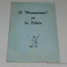 Coleccionismo deportivo: (M-3.7) PELOTA VASCA - JUAN JOSE LARTIGUE ASTIER - EL MARRONISMO EN PELOTA 1953 , 27 PAG. Lote 37902197