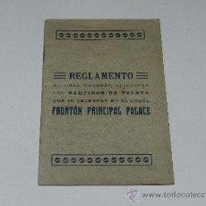 Coleccionismo deportivo: (M-3.7) PELOTA VASCA - REGLAMENTO PARTIDOS DE PELOTA FRONTON PRINCIPAL PALACE. Lote 37902511