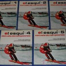 Coleccionismo deportivo: EL ESQUI - ESCUELA DE CAMPEONES - FEDERACIÓN ALEMANA PARA LA ENSEÑANZA DEL ESQUI (1981). Lote 117518072