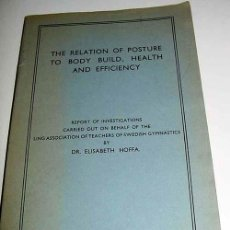 Coleccionismo deportivo: THE RELATION FO POSTURE TO BODY BUILD, HEALTH AND EFFICIENCY – DR. ELIZABETH - HOFFA – LING ASSOCIAT. Lote 38243374