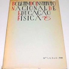 Coleccionismo deportivo: BOLETIM DO INSTITUTO NACIONAL DE EDUCAÇAO FÍSICA Nº 1.2.3.4 – CAP. CELESTINO MARQUES - PEREIRA – INS. Lote 38243473