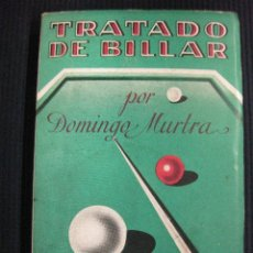 Coleccionismo deportivo: TRATADO DE BILLAR. DOMINGO MURTRA.ED. MAUCCI.. Lote 42524455