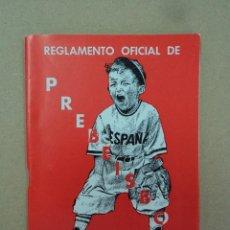 Coleccionismo deportivo: PREBEISBOL - REGLAMENTO OFICIAL- AÑO 1967. Lote 43011067