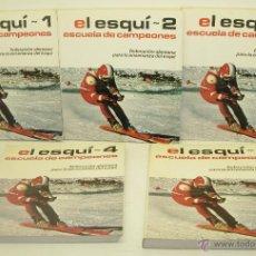 Coleccionismo deportivo: EL ESQUÍ - ESCUELA DE CAMPEONES - 5 TOMOS - FEDERACION ALEMANA - COMPLETA. Lote 43163719