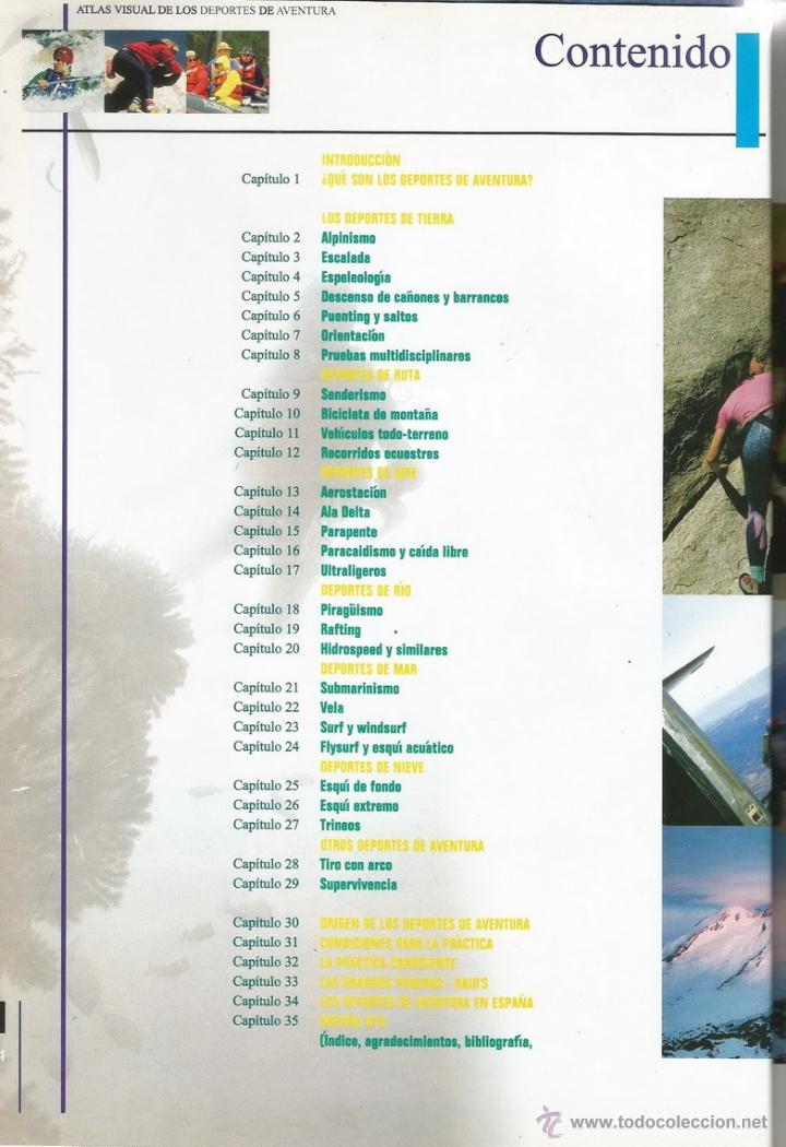 Coleccionismo deportivo: JOSÉ MARÍA GARCÍA-ARIAS (COORD.). Atlas Visual de los Deportes de Aventura. RM65982. - Foto 2 - 44401612