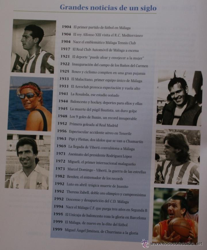 Coleccionismo deportivo: UN SIGLO DE DEPORTE EN MALAGA - M. CASTILLO Y J. CORTÉS - PERIODICO SUR - 2001 - Foto 3 - 44788300
