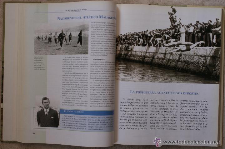 Coleccionismo deportivo: UN SIGLO DE DEPORTE EN MALAGA - M. CASTILLO Y J. CORTÉS - PERIODICO SUR - 2001 - Foto 6 - 44788300