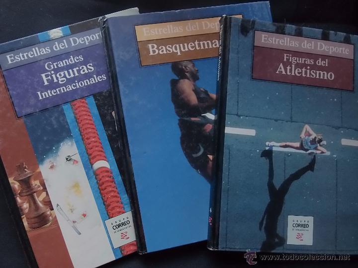 ESTRELLAS DEL DEPORTE. 3 TÍTULOS. (Coleccionismo Deportivo - Libros de Deportes - Otros)