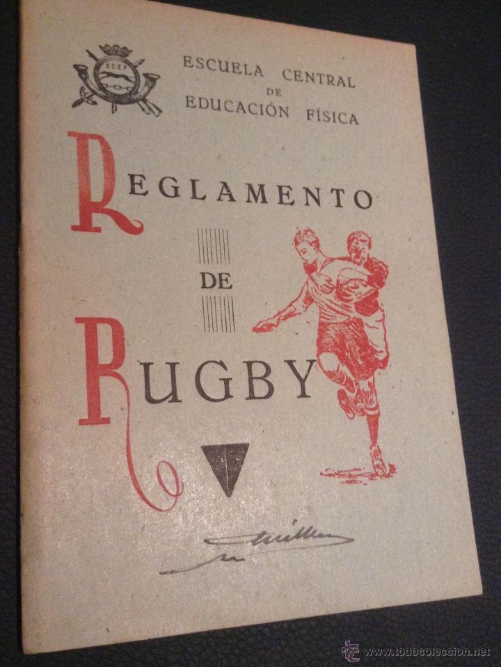 LIBRO MANUAL REGLAMENTO DE RUGBY DE 1949 (Coleccionismo Deportivo - Libros de Deportes - Otros)
