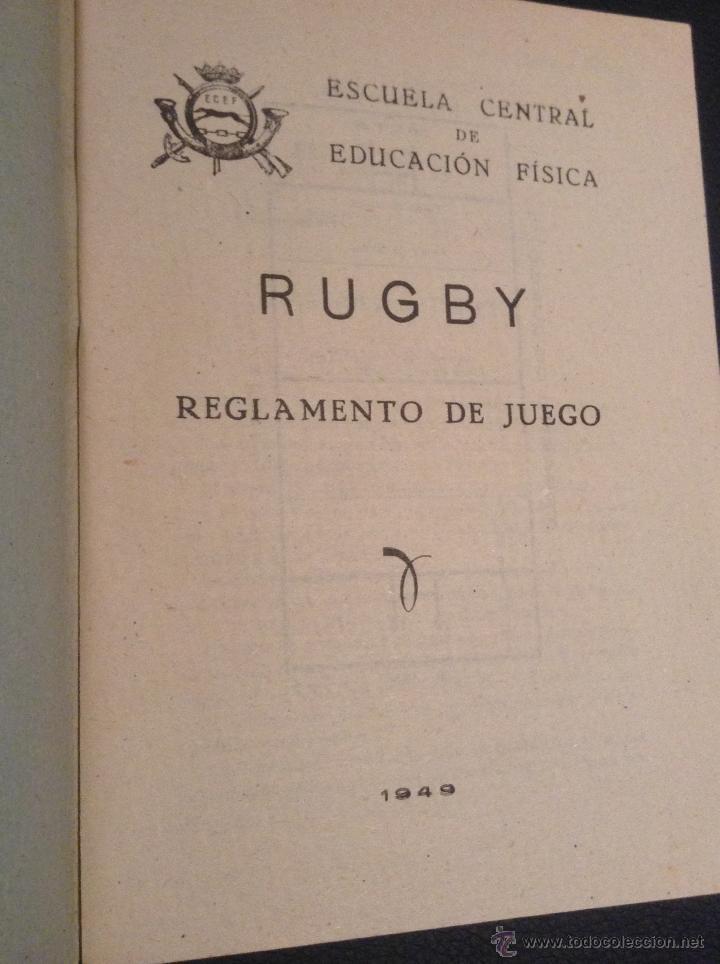 Coleccionismo deportivo: libro manual reglamento de rugby de 1949 - Foto 2 - 45523233