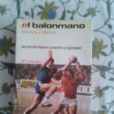 Coleccionismo deportivo: EL BALONMANO TÉCNICA Y TÁCTICA. GERARDO LÓPEZ CUADRA Y EJARQUE. Lote 46960427