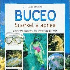 Coleccionismo deportivo: BUCEO SNORKEL Y APNEA MARCO TARANTINO . Lote 47047489