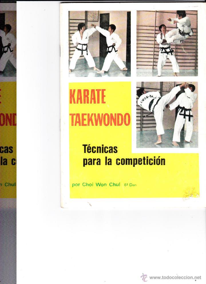 KARATE-TAEKWONDO TECNICAS PARA LA COMPETICION 1974 (Coleccionismo Deportivo - Libros de Deportes - Otros)