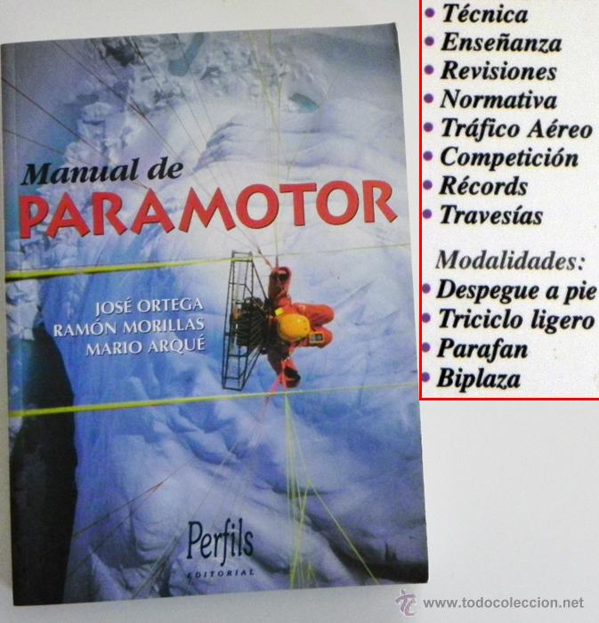 manual de paramotor jos ortega r morillas m ar comprar en rh todocoleccion net manual paramotor black devil manual paramotor he 120