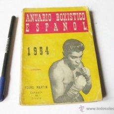 Coleccionismo deportivo: ANUARIO BOXISTICO ESPAÑOL DE 1954. RAFAEL BARBOSA Y NARCISO VILLAR. Lote 48460637