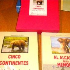 Coleccionismo deportivo: CINCO CONTINENTES Y AL ALCANCE DE LA MEMORIA CAZANDO, EN ESTUCHE CARTON . CAZA . ANTONIO BIOSCA. Lote 48710654