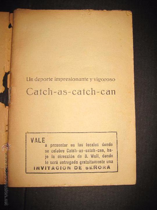 Coleccionismo deportivo: CATCH -AS- CATCH - CAN - DEPORTE IMPRESIONANTE Y VIGOROSO - REGLAMENTO HISTORIAL ...-JOSE ATIENZA - Foto 2 - 48852166