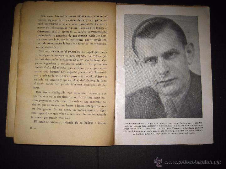 Coleccionismo deportivo: CATCH -AS- CATCH - CAN - DEPORTE IMPRESIONANTE Y VIGOROSO - REGLAMENTO HISTORIAL ...-JOSE ATIENZA - Foto 4 - 48852166