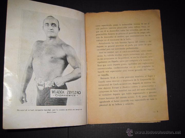 Coleccionismo deportivo: CATCH -AS- CATCH - CAN - DEPORTE IMPRESIONANTE Y VIGOROSO - REGLAMENTO HISTORIAL ...-JOSE ATIENZA - Foto 5 - 48852166