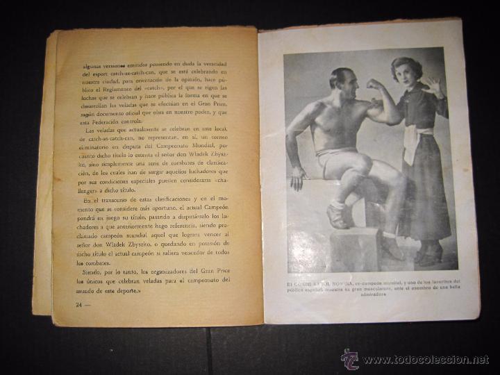 Coleccionismo deportivo: CATCH -AS- CATCH - CAN - DEPORTE IMPRESIONANTE Y VIGOROSO - REGLAMENTO HISTORIAL ...-JOSE ATIENZA - Foto 6 - 48852166