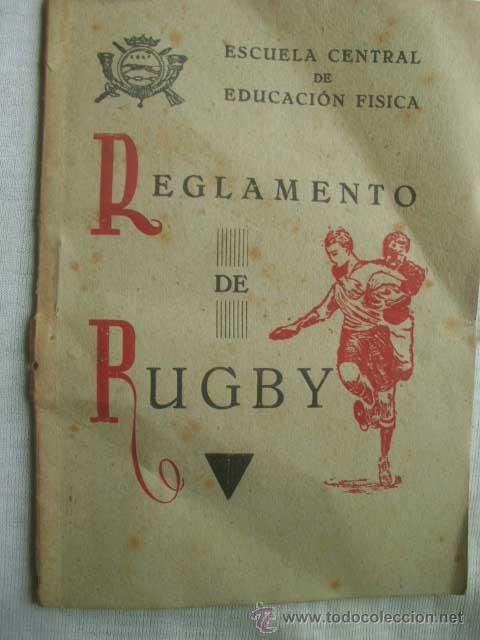 REGLAMENTO DE RUGBY. 1944 (Coleccionismo Deportivo - Libros de Deportes - Otros)