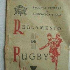 Coleccionismo deportivo: REGLAMENTO DE RUGBY. 1944. Lote 50189120