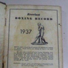 Coleccionismo deportivo: BOXEO,1937,BOXING,ANUARIO,AMERICANO,MUY RARO EN ESPAÑA,BOXEADORES AMERICANOS,AÑOS 30. Lote 50507594