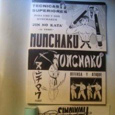 Coleccionismo deportivo: NUNCHAKU. TÉCNICAS SUPERIORES + DEFENSA Y ATAQUE + SINAWALI. LOS PALOS DESTRUCTORES DE KALI (DAIMYO). Lote 52505065