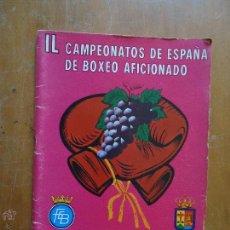Coleccionismo deportivo: BOXEO - IL 49 CAMPEONATOS DE ESPAÑA DE BOXEO AFICCIONADO , RIOJA LOGROÑO 1977 CON PUBLICIDAD RENAULT. Lote 54075916
