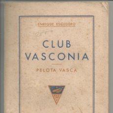 Coleccionismo deportivo: TENIS FRONTON CLUB VASCONIA PELOTA VASCA BARCELONA 1942 DEPORTE SPORT CATALUNYA REGLAMENTO FIRMADO A. Lote 54330529