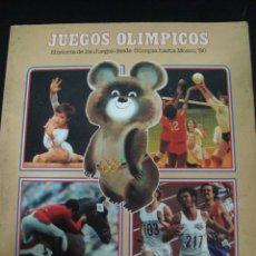 Coleccionismo deportivo: JUEGOS OLIMPICOS. HISTORIA DE LOS JUEGOS DESDE OLIMPIA HASTA MOSCU 80. COLA CAO.. Lote 56290295