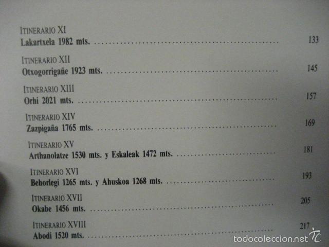 Coleccionismo deportivo: el pirineo vasco,peña santiago,1988,elkar ed,ref montaña - Foto 12 - 56337461