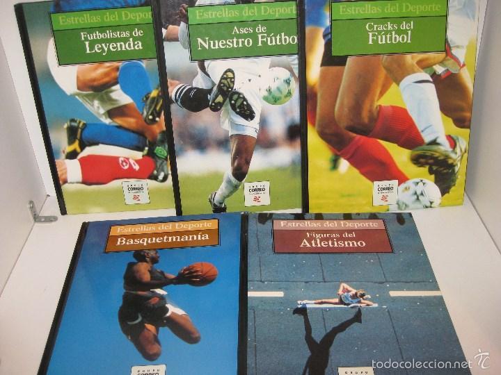 CINCO LIBROS (COLECCION ESTRELLAS DEL DEPORTE) (Coleccionismo Deportivo - Libros de Deportes - Otros)