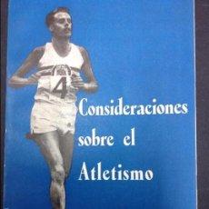 Collectionnisme sportif: CONSIDERACIONES SOBRE EL ATLETISMO. Lote 57031969