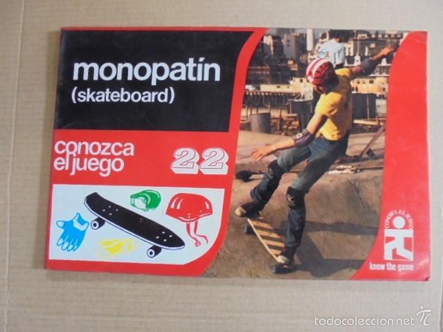 CONOZCA EL JUEGO 22 - MONOPATIN - SKATEBOARD - AÑO 1979 - PERFECTO ESTADO (Coleccionismo Deportivo - Libros de Deportes - Otros)
