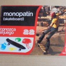 Coleccionismo deportivo: CONOZCA EL JUEGO 22 - MONOPATIN - SKATEBOARD - AÑO 1979 - PERFECTO ESTADO. Lote 57518922