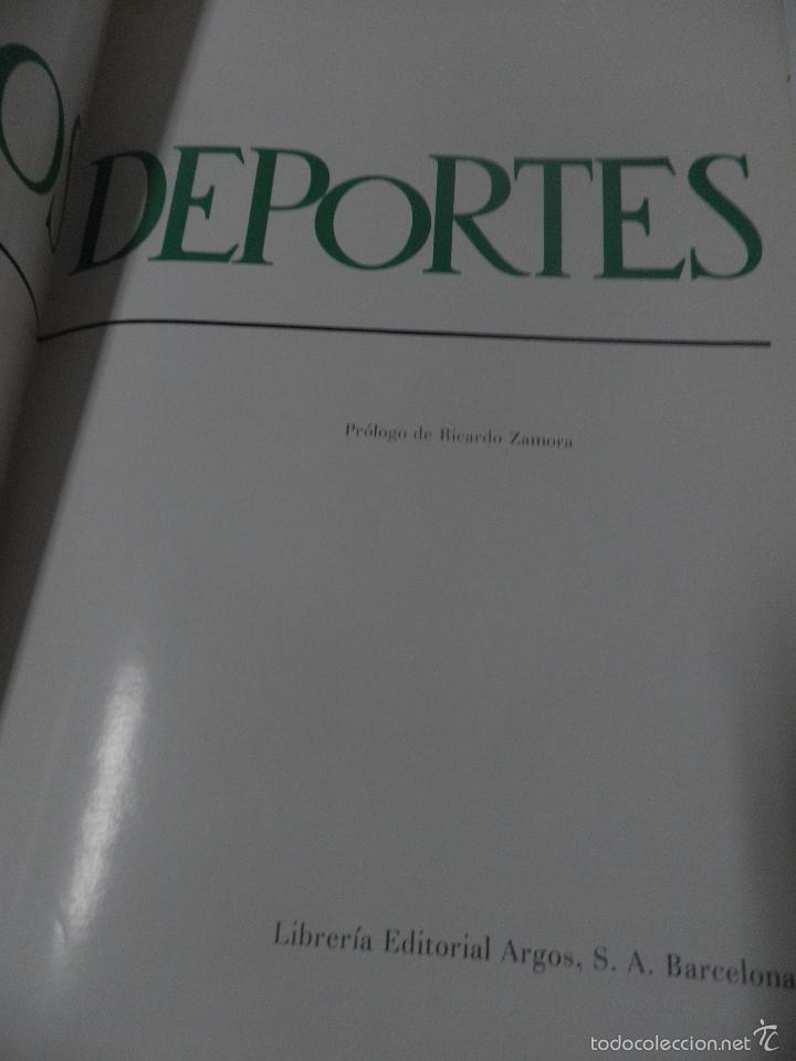 Coleccionismo deportivo: LOS DEPORTES - ARGOS - PROLOGO DE RICARDO ZAMORA- - Foto 8 - 58432386