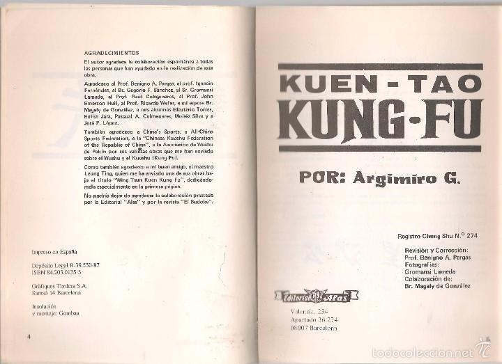Coleccionismo deportivo: KUEN - TAO. KUNG - FU. ARGIMIRO G. ALAS 1987. (Z5) - Foto 2 - 58487455
