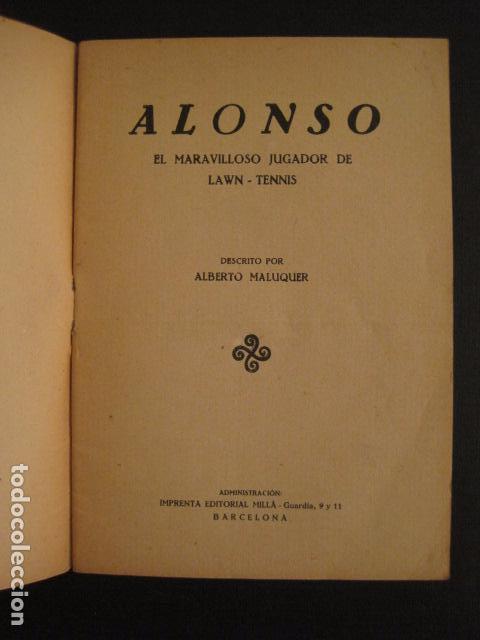 Coleccionismo deportivo: TENIS -ALONSO - LOS ASES DEL DEPORTE - LAW TENNIS -VER FOTOS ADICIONALES-(V-6559) - Foto 2 - 61771800