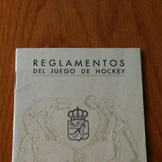 Coleccionismo deportivo: REGLAMENTOS DEL JUEGO DE HOCKEY. REAL FEDERACION ESPAÑOLA DE HOCKEY. 1952. Lote 62592832