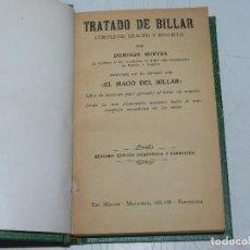 Coleccionismo deportivo: (M) DOMINGO MURTRA - TRATADO DE BILLAR COMPLETO, EXACTO Y SENCILLO , TIP MAUCCI, 2 EDC. Lote 63730967