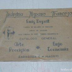 Coleccionismo deportivo: (M) CATALOGO INDUSTRIA HISPANO FRANCESA LUIS DEPRIT,( BILLAR ) FABRICA DE BILLARES, ZARAGOZA, MADRID. Lote 63738183