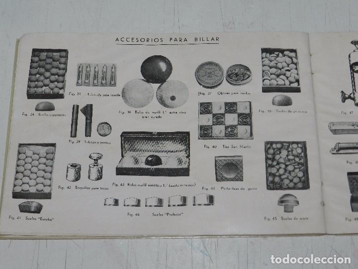 Coleccionismo deportivo: (M) CATALOGO INDUSTRIA HISPANO FRANCESA LUIS DEPRIT,( BILLAR ) FABRICA DE BILLARES, ZARAGOZA, MADRID - Foto 7 - 63738183