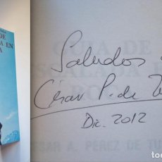 Coleccionismo deportivo - Pérez de Tudela. Firmado por César Pérez de Tudela, explorador y alpinista.Guía de escalada en roca - 34592139