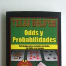 Coleccionismo deportivo - LIBRO/TEXAS HOLD'EM-ODDS Y PROBABILIDADES/CASINO. - 66993366