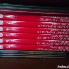 Coleccionismo deportivo: GRAN HISTORIA DE LAS OLIMPIADAS Y DE LOS DEPORTES COLECCION 6 TOMOS -VER FOTOS. Lote 67700173