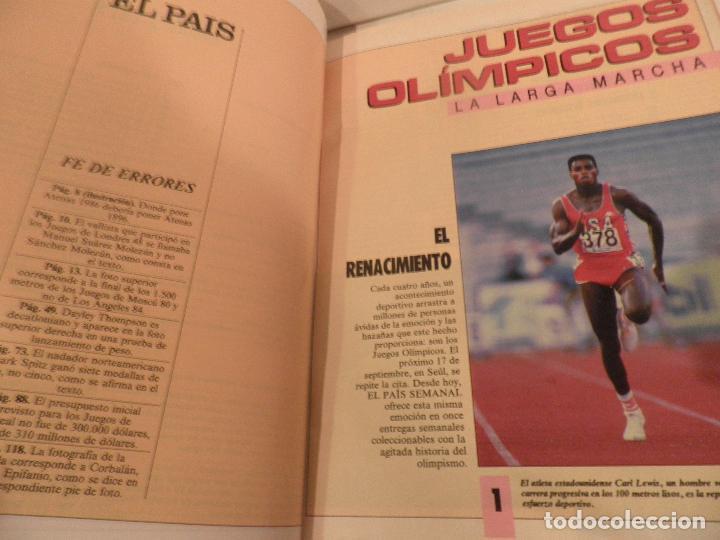 Coleccionismo deportivo: JUEGOS OLIMPICOS - LA LARGA MARCHA - EL PAIS - ORIGINAL - COMPLETO Y ENCUADERNADO - Foto 3 - 71628903