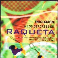Coleccionismo deportivo: INICIACIÓN A LOS DEPORTES DE RAQUETA -LA ENSEÑANZA DE LOS DEPORTES 1ª EDICIÓN 218 PAG AÑO 2007 MD445. Lote 73429011