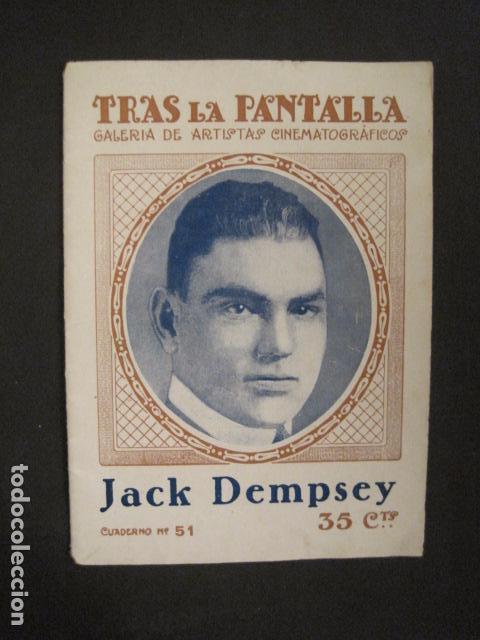 BOXEO - JACK DEMPSEY - TRAS LA PANTALLA - -VER FOTOS-(V-8633) (Coleccionismo Deportivo - Libros de Deportes - Otros)