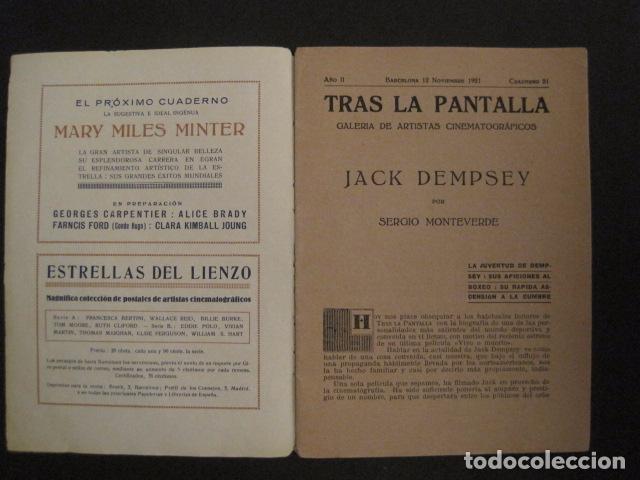 Coleccionismo deportivo: BOXEO - JACK DEMPSEY - TRAS LA PANTALLA - -VER FOTOS-(V-8633) - Foto 3 - 74627591